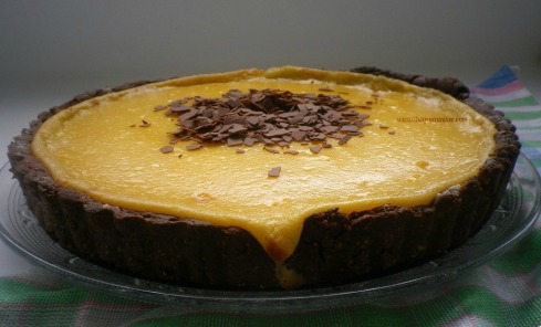 Lemon Tart with Chocolate Almond Crust