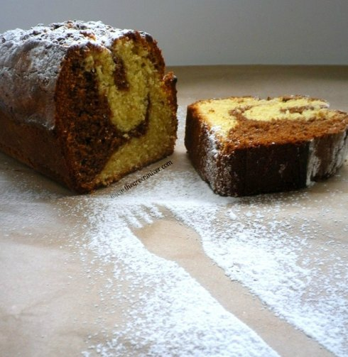 Marbled sour cream pound cake2