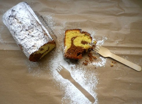 Marbled sour cream pound cake3