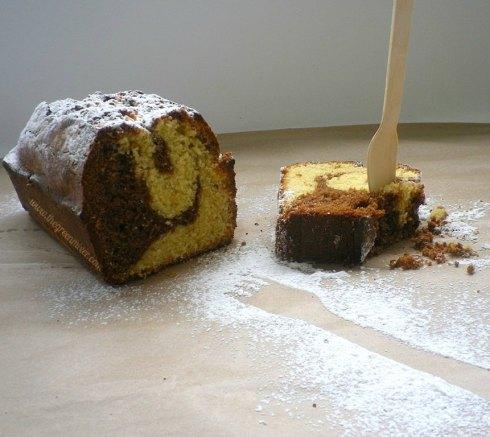 Marbled sour cream pound cake4