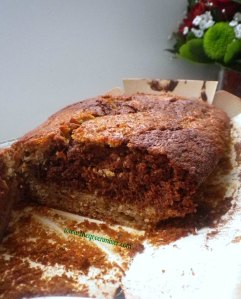 banana chocolate marble cake4