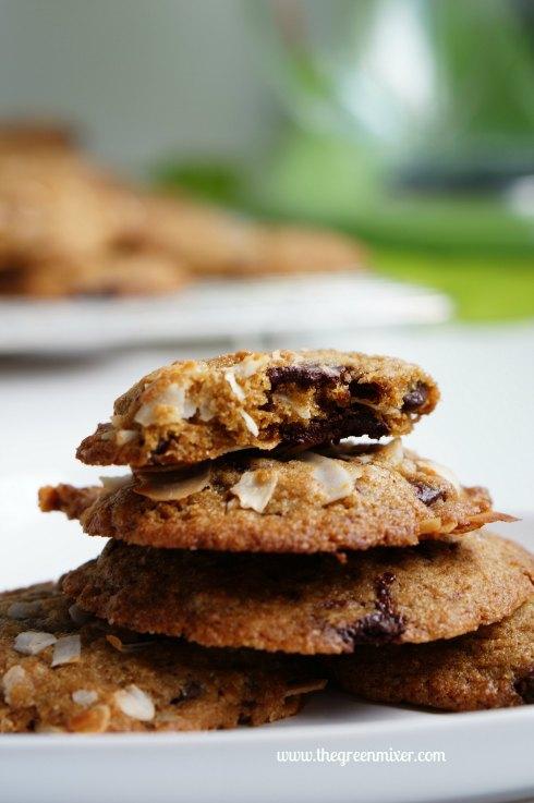 whole wheat choc coconut cookies4