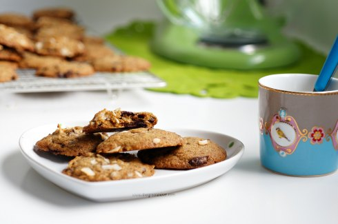 whole wheat choc coconut cookies6