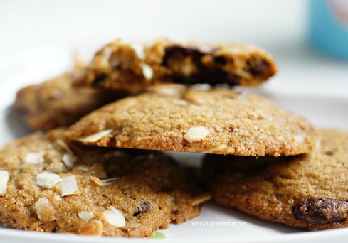 whole wheat choc coconut cookies7