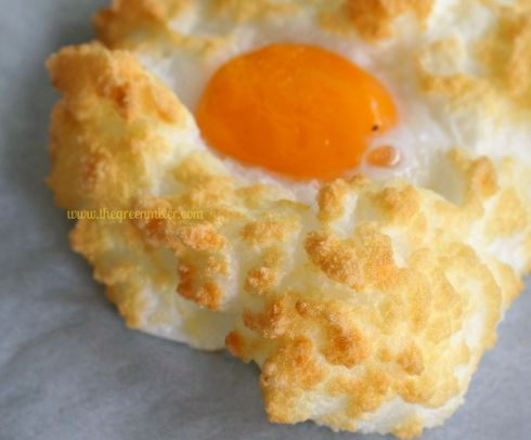 eggs in a cloud closeup