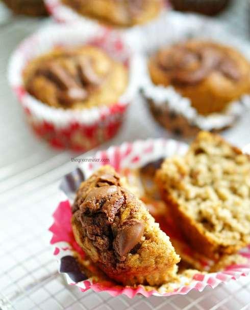 nutella swirl banana muffins 3