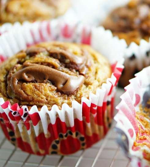 nutella swirl banana muffins 4