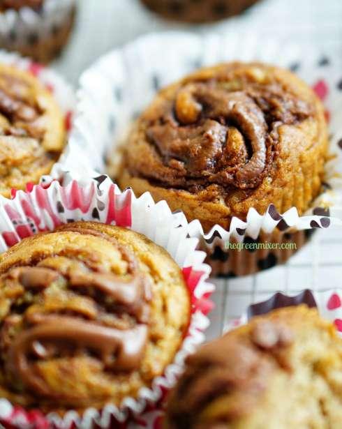 nutella swirl banana muffins 5