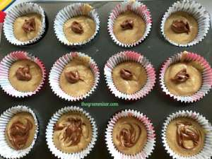 nutella swirl banana muffins unbaked 1
