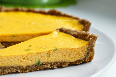 pumpkin quiche with goat cheese 4