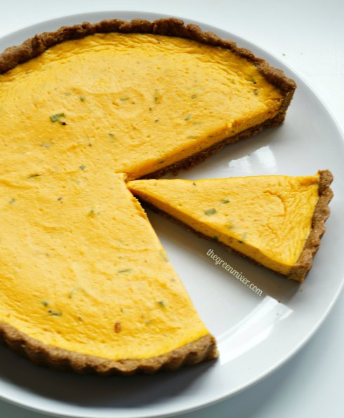 pumpkin quiche with goat cheese 6